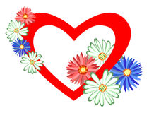 Heart with flowers. Stock Images