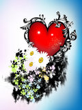Heart with flowers Royalty Free Stock Photography
