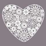 Heart from flowers. Heart from abstract white flowers Royalty Free Stock Photos