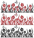 Heart flowers background. There are love textures with flowers and hearts Stock Photos