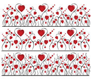 Heart flowers background. There are valentines textures and backgrounds with hearts Stock Image