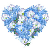 Heart from flowers Stock Photography