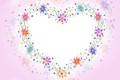 Heart flowers frame Stock Photography