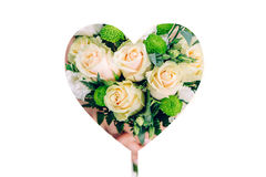 Heart with flowers, insolation Royalty Free Stock Images