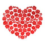 Heart with flowers isolated Royalty Free Stock Photos