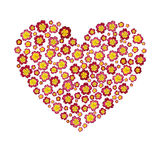 Heart with flowers isolated on white background Royalty Free Stock Image