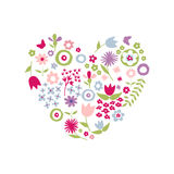 Heart of flowers for Mother's Day Royalty Free Stock Photo
