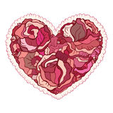 Heart of flowers roses. Royalty Free Stock Photos