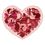 Heart of flowers roses. Royalty Free Stock Image