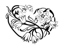 Heart of flowers Royalty Free Stock Image