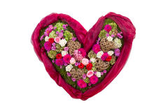 Heart with flowers - symbol of love Royalty Free Stock Photography