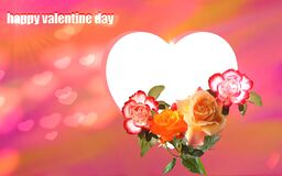 Heart and flowers valentine day image.