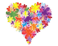 Heart of flowers. Vector illustration of abstract heart Royalty Free Stock Photo