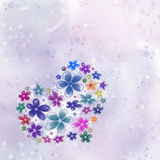 Heart from flowers Stock Images