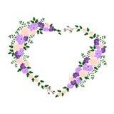 Heart of flowers. Stock Photos
