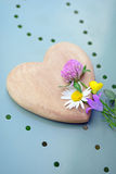 Heart and flowers Stock Photography