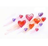 Heart fly Stock Image