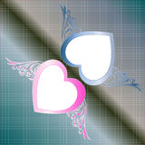 Heart fly with wing of love Stock Photography