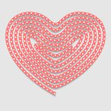 Heart of the folded rope. Valentines day background Royalty Free Stock Photos