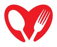 A heart and food concept Stock Photography