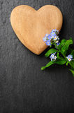 Heart and forget-me-not Royalty Free Stock Photos