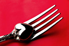 Heart on a fork Royalty Free Stock Images