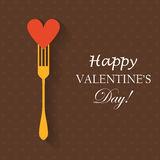 Heart and fork Royalty Free Stock Photo