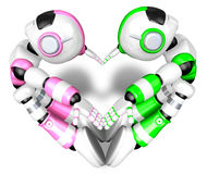 The heart in the form of body language. Create 3D Humanoid Robot Stock Images