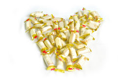 Heart form from chinese Candy Royalty Free Stock Photography