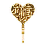 Heart form with corn puffs inside Stock Photo