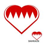 Logo. Flag Bahrain in the form of a heart. vector illustration