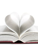 Heart in the form of sheets of the book Stock Photos