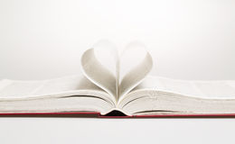 Heart in the form of sheets of the book Stock Photo