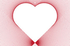 A heart formed by straight lines only. Stock Photos