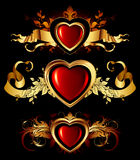 Heart forms with ornate elements Royalty Free Stock Photography