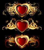 Heart forms with ornate elements Royalty Free Stock Photo