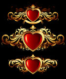 Heart forms with ornate elements Stock Photo