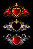 Heart forms with ornate elements Stock Photos