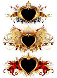 Heart forms with ornate elements Stock Images