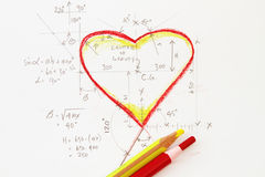 Heart with formula Stock Image