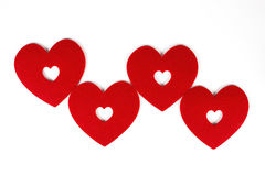 Heart of Four. In a white background Stock Photo