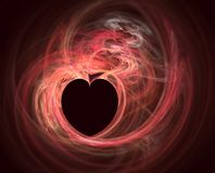 Heart Fractal. Computer generated Royalty Free Stock Images