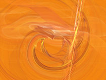 Heart fractal background. Illustration heart fractal background orange Stock Images