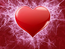 Heart with fractal decorated Stock Photography