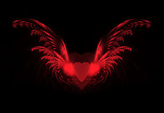 Heart with fractal wings Stock Images