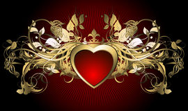 Heart frame Royalty Free Stock Photo