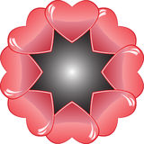 Heart frame Royalty Free Stock Images