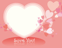 Heart frame. Vector illustration of pink heart frame Stock Photo