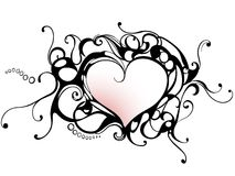 Heart frame. Vector heart frame, monochrome illustration Royalty Free Stock Photography
