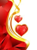 Heart frame. Ruby heart frame in red and golden tones Royalty Free Stock Photos